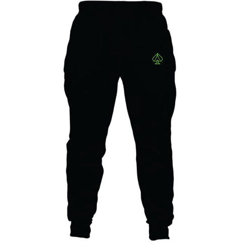 Black and Lime Joggers