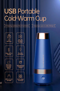 Portable Water Bottle Vacuum Cup USB Heating And Cooling (for Car Travel Office Home Outdoor)