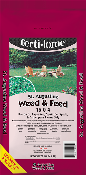 15-0-04 St. Augustine Weed & Feed Fertilizer