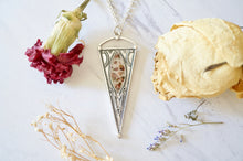 Real Pressed Flowers in Resin, Silver Necklace with Heather Flowers