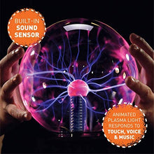 Plasma Globe Lamp with Interactive Electronic Touch and Sound Sensitive Tesla Coil