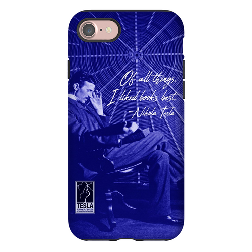 Nikola Tesla Reading Phone Case