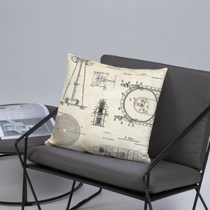 Nikola Tesla Patents Pillow