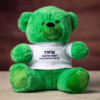 A green bears wearing white t shirts