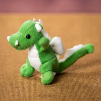 A dark green dragon that is 4 inches tall while standing