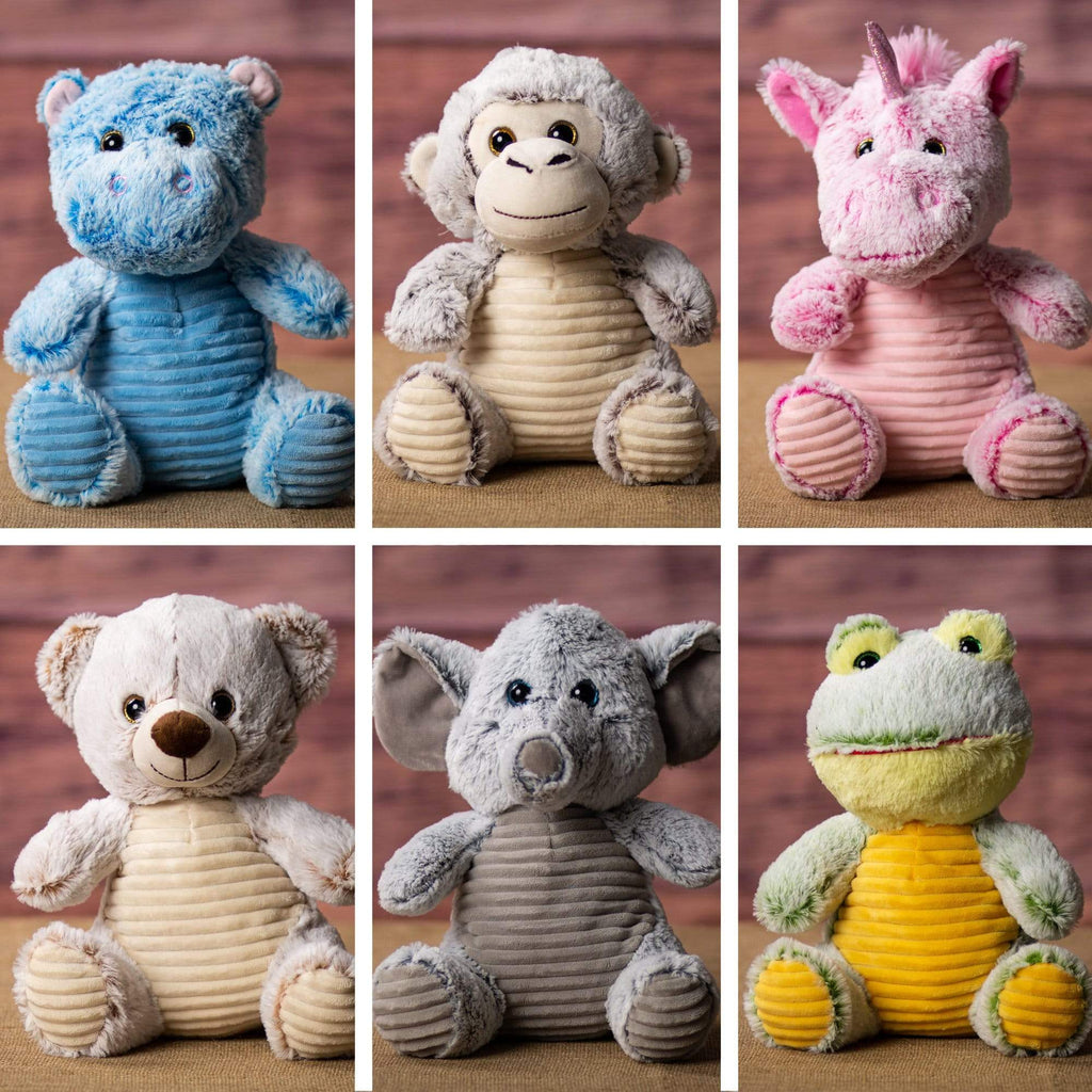 "Wholesale Stuffed Animals -  10.5"" Colorful Animal Six Pack  -  2009"