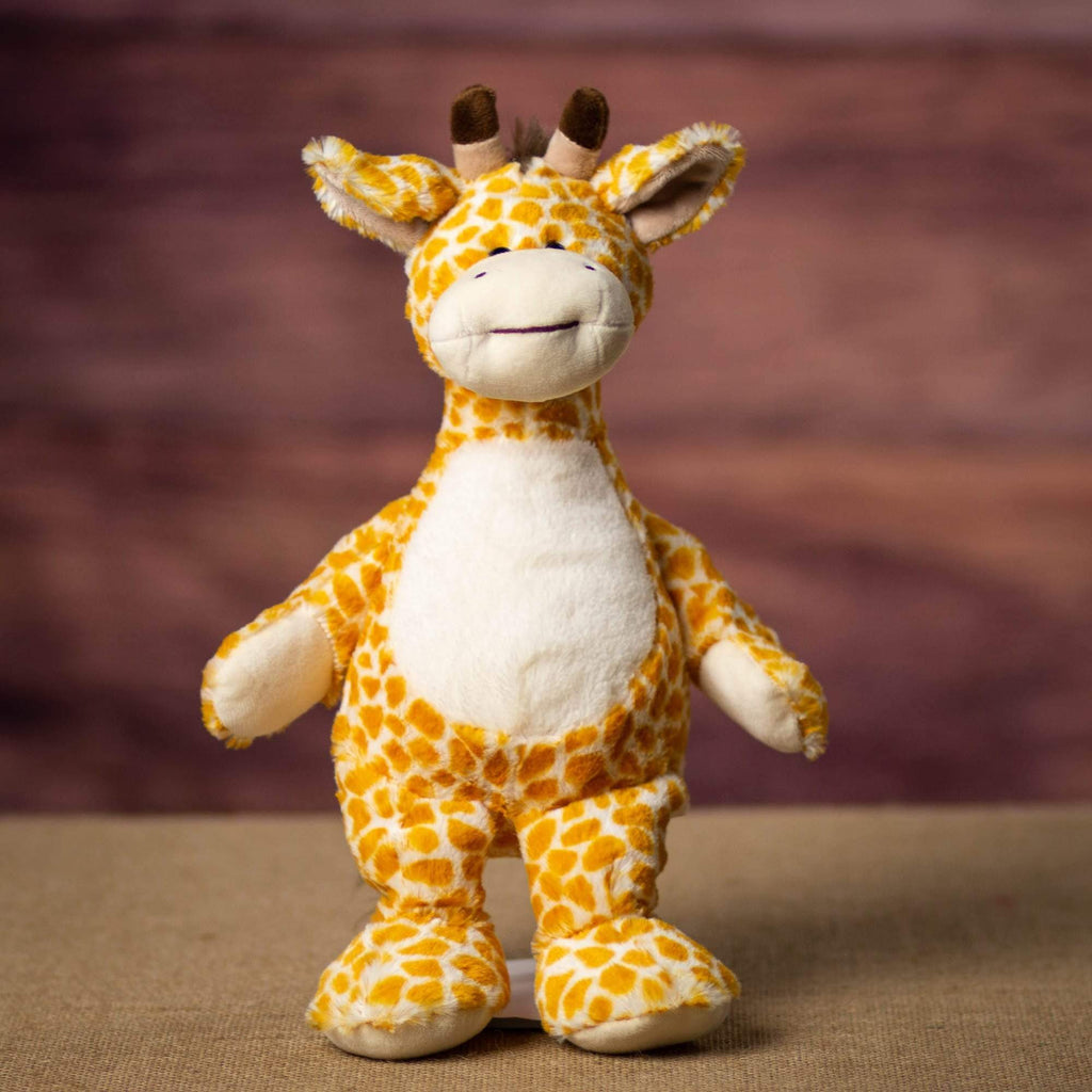 A giraffe that is 12 inches tall while standing