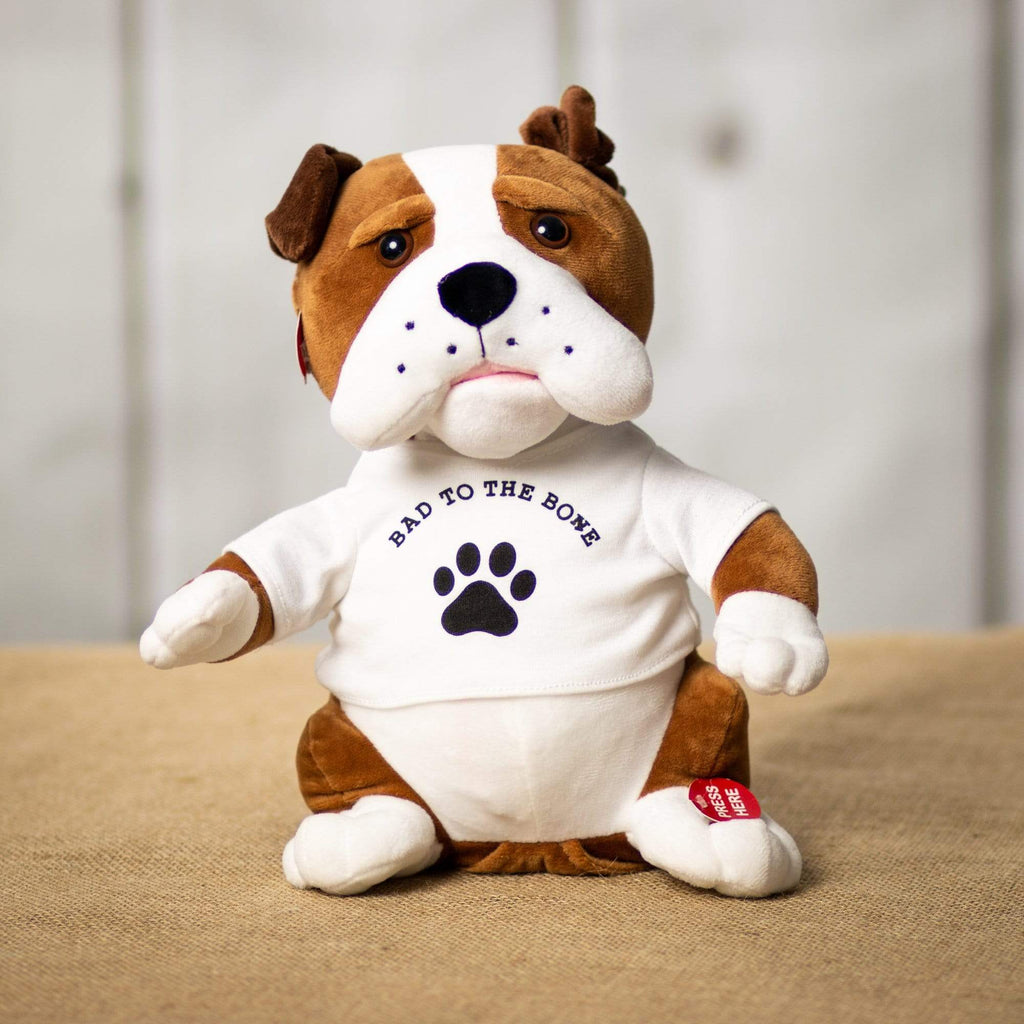 "Wholesale Stuffed Animals -  11"" Singing Bulldog  -  4695"