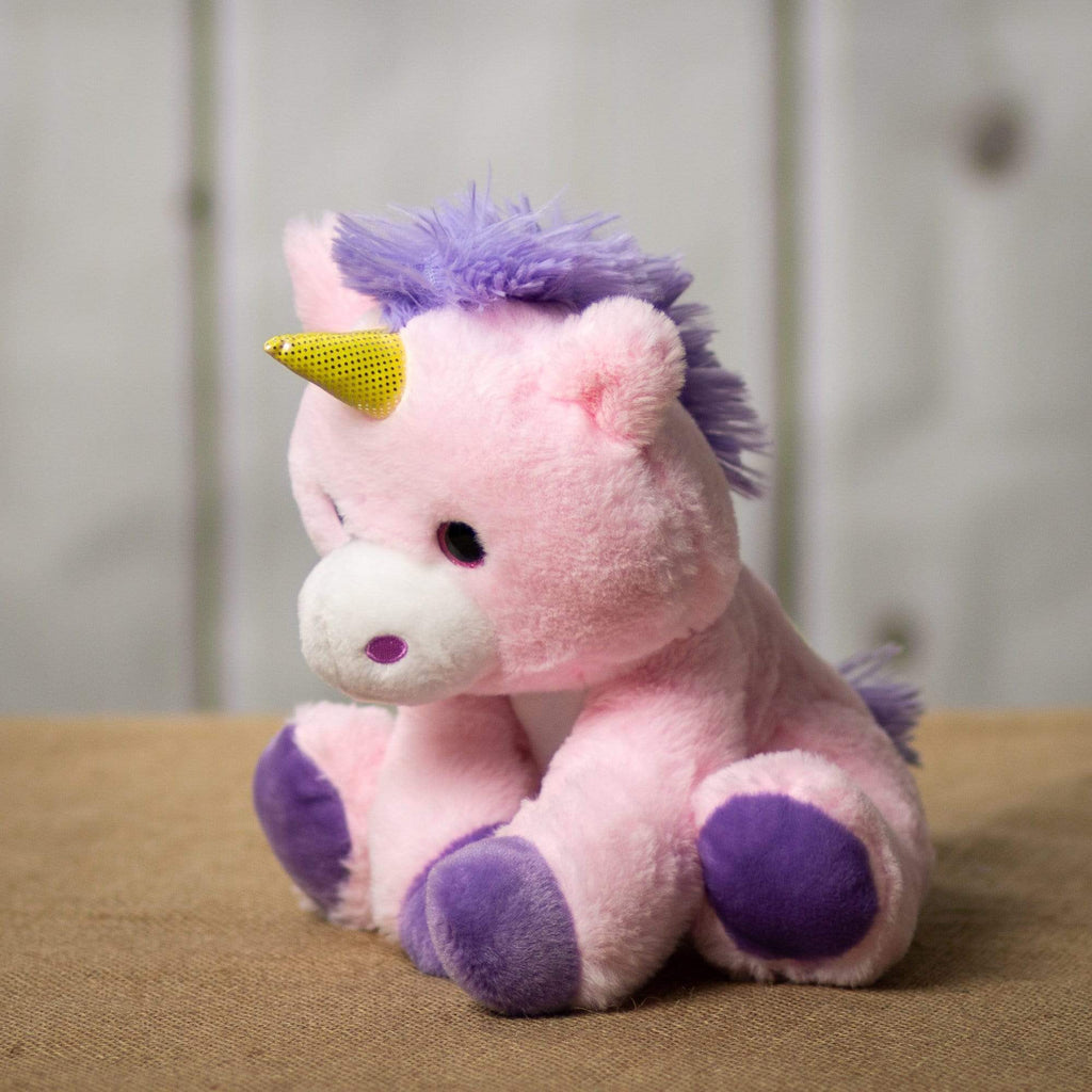 "Wholesale Stuffed Animals -  9.5"" Sitting Pink Unicorn  -  626"