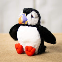 A puffin that is 7 inches tall while sitting