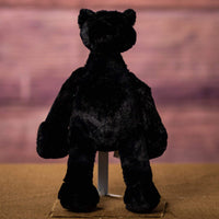 A floppy black panther that is 12 inches tall while standing