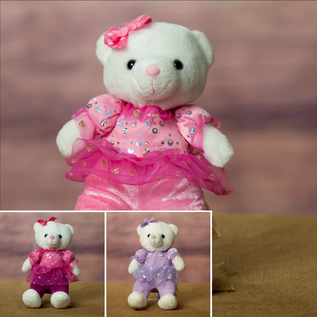 "Wholesale Stuffed Animals -  8"" Ballerina Bear Assortment  -  9740"