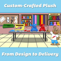 Wholesale Stuffed Animals -  Custom-Crafted Plush Toy Prototype  -  C1000