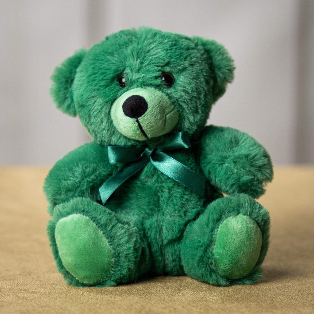 "Wholesale Stuffed Animals -  6"" Hunter Green Teddy Bear 2019  -  S108"
