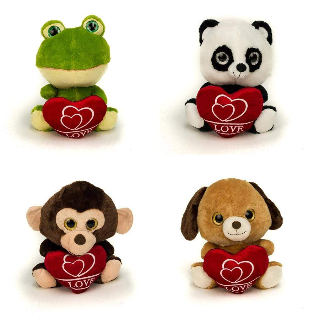 "Wholesale Stuffed Animals -  9"" Sitting Valentine Animal Asst  -  V215"