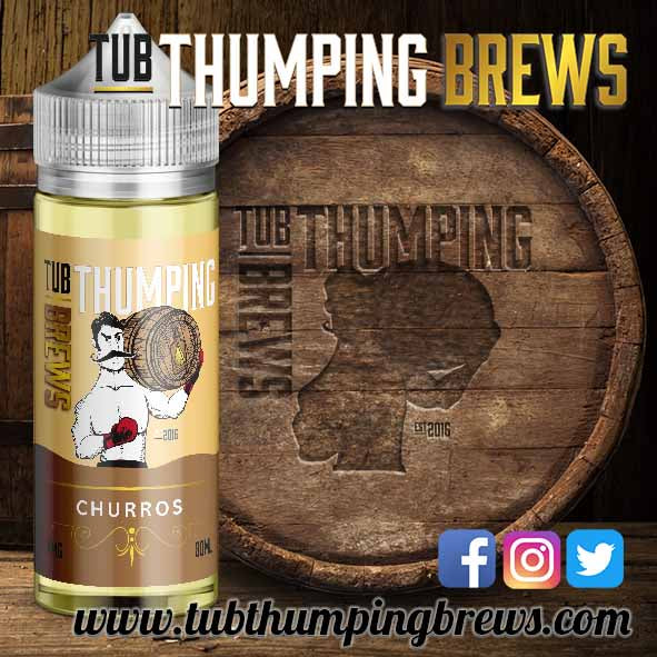 Churros 10ml Sample Bottle 0mg