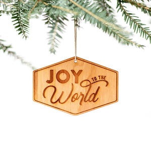 Joy To The World Engraved Wooden Christmas Ornament