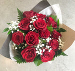 Hand Tied Rose Bouquet - Assorted Colours