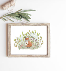 Fox in the Meadow Print