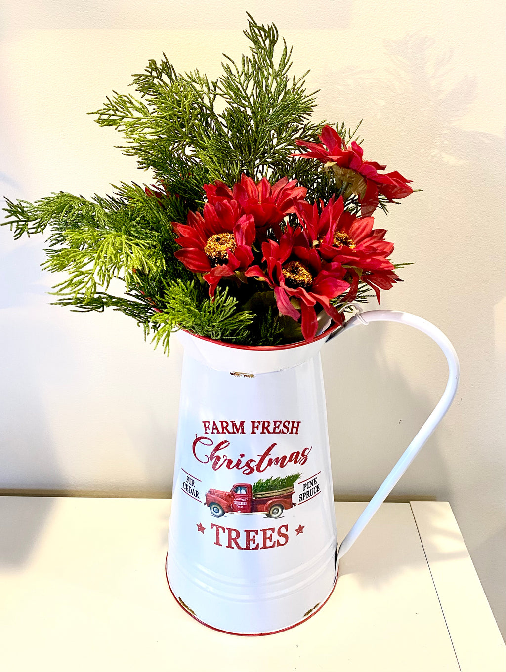 """Farm Fresh Christmas Trees"" pitcher"