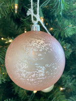 Blush Mercury Finish Glass Ball Ornament