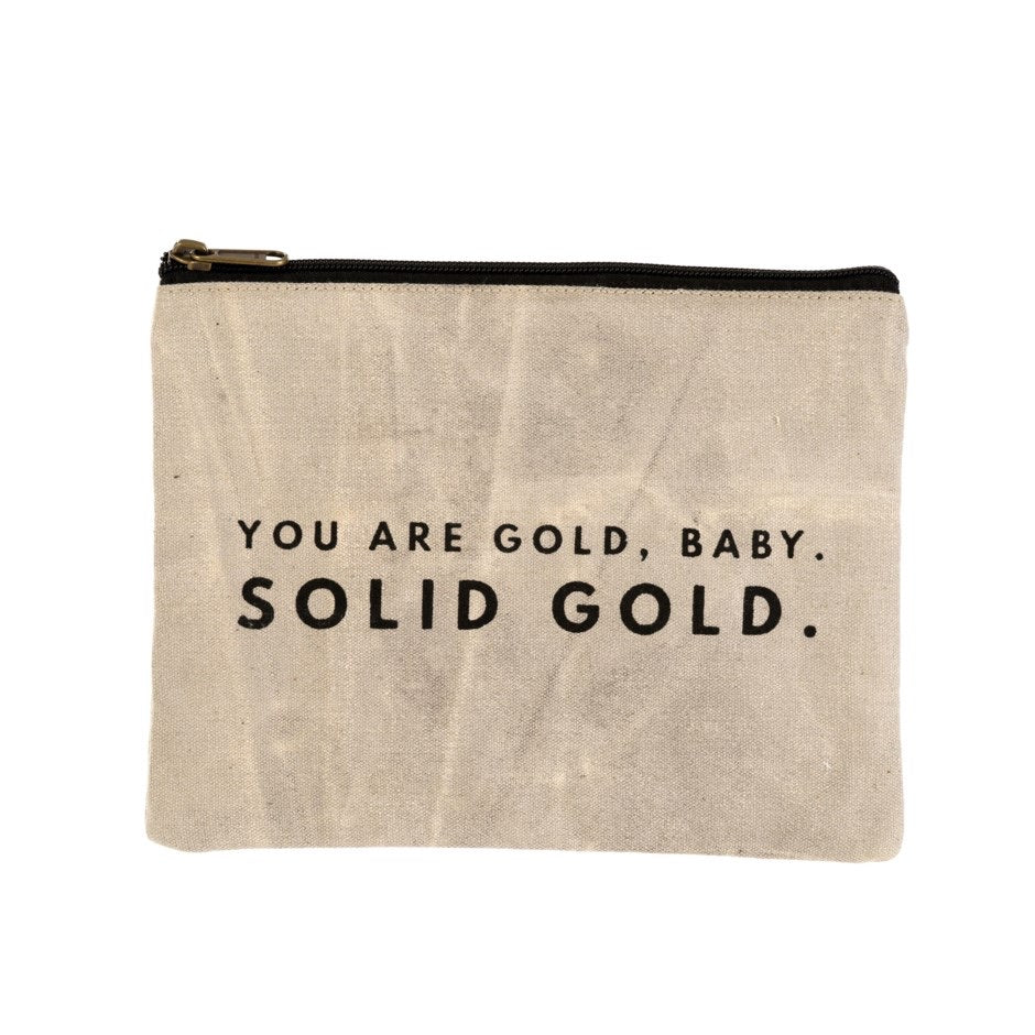 You Are Gold Canvas Pouch