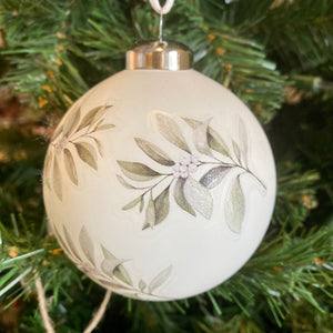 Branch Detail Glass Ball Ornament