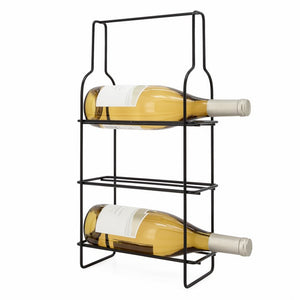 Outline Metal Wine Rack