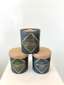Wood Wick Man Candles