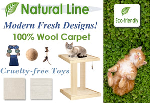 natural line eco-friendly non-toxic cat scratching posts