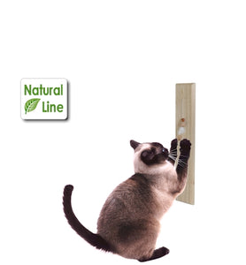 activecat cedar scratch wall mount scratching post