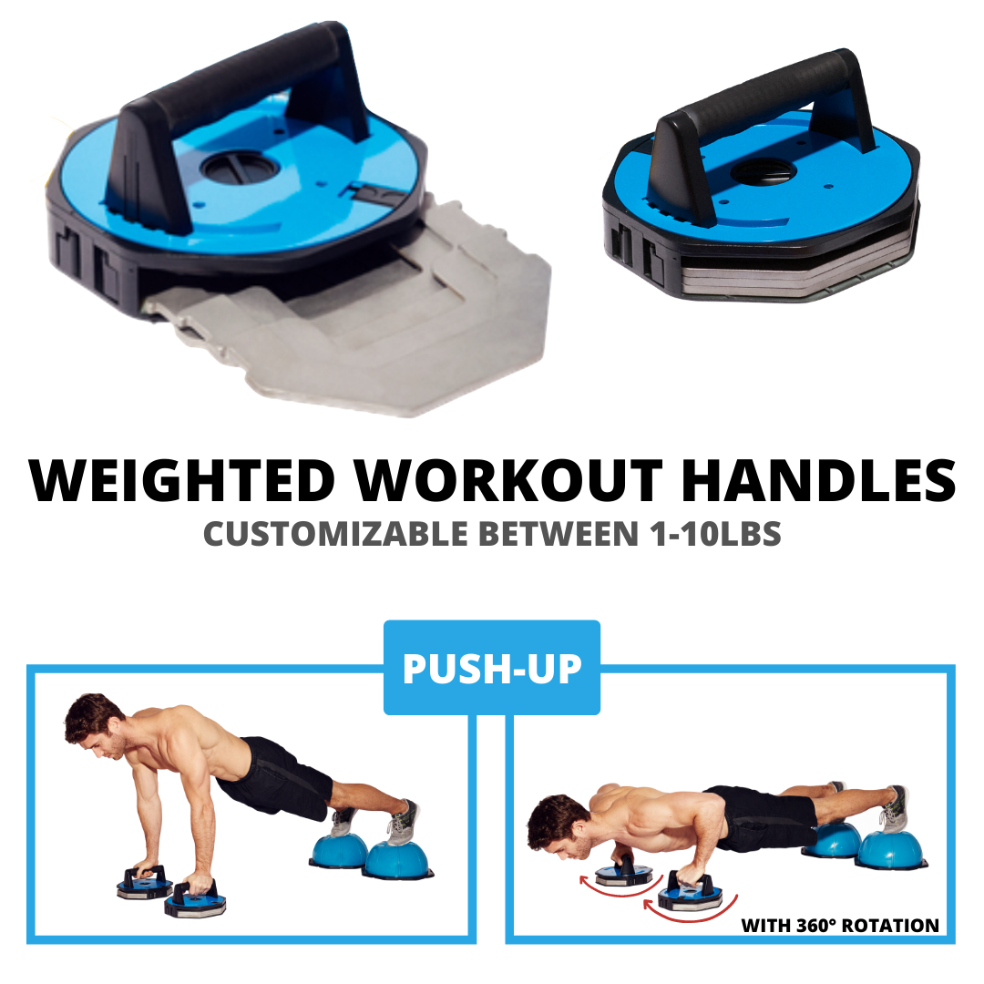 WEIGHTED WORKOUT PUSH-UP HANDLES (SPHERES NOT INCLUDED)
