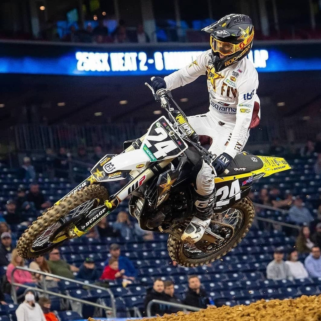 RJ Hampshire had a rough go during the Houston stretch of the 2021 Supercross season.