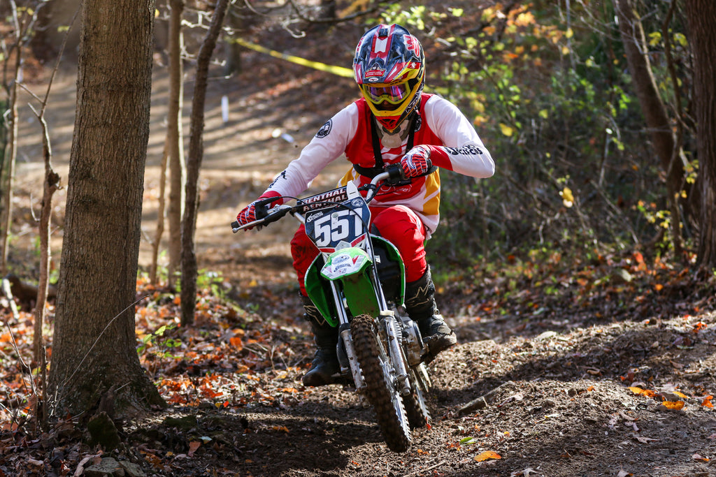 Phil Smage on the gas in the Hare Scramble at the Bluegrass Brawl