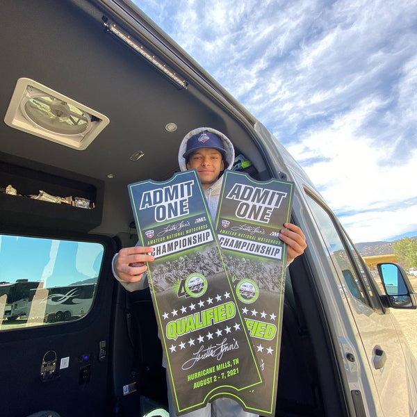 #TeamEVS Athlete Noah Viney all smiles after punching his tickets to the 2021 Loretta Lynn's Amateur National Motocross Championship!