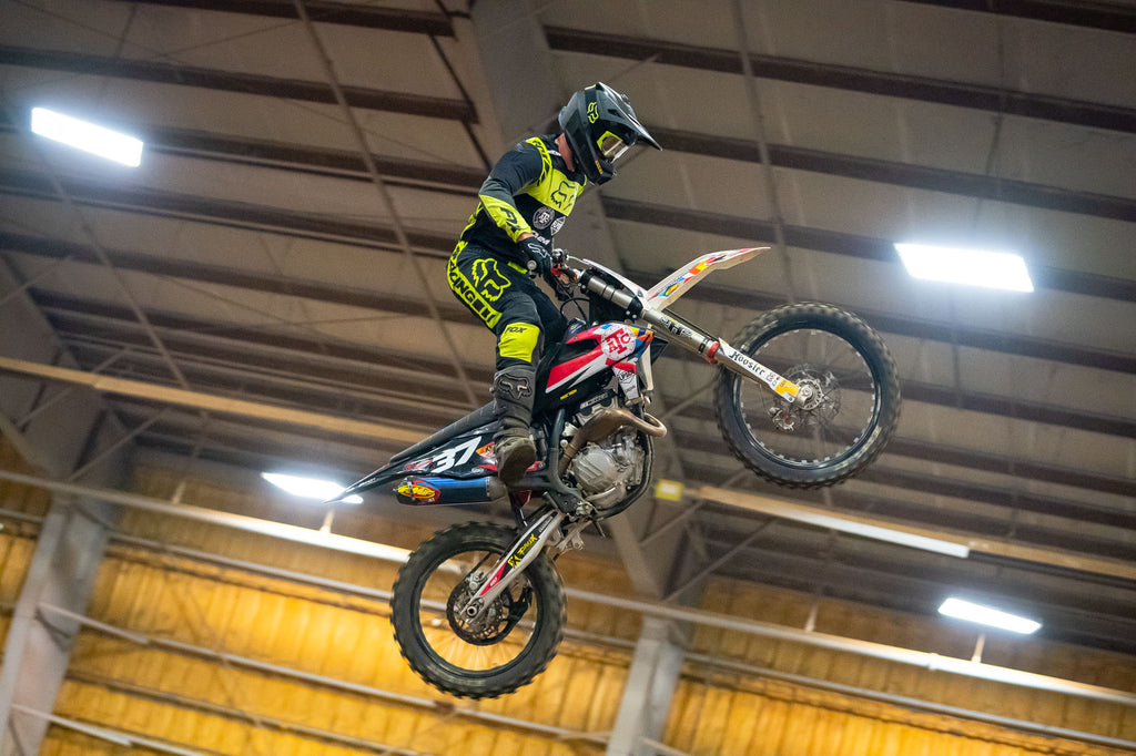 Jeff Crutcher airing it out at one of the Hoosier AX rounds!