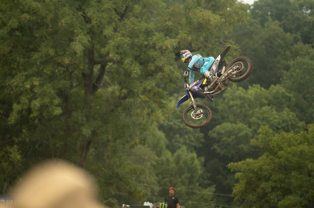 #TeamEVS athlete Collin Allen, racing for EBR Performance, airing it out at the 2021 Loretta Lynn's Amateur National Motocross Championships