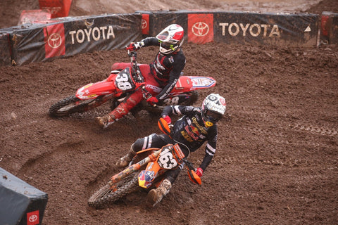 Kyle Peters battling to a top 5 finish in Salt Lake City.