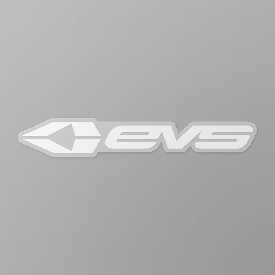 "EVS Sports - EVS Sports 8"" Sticker White"