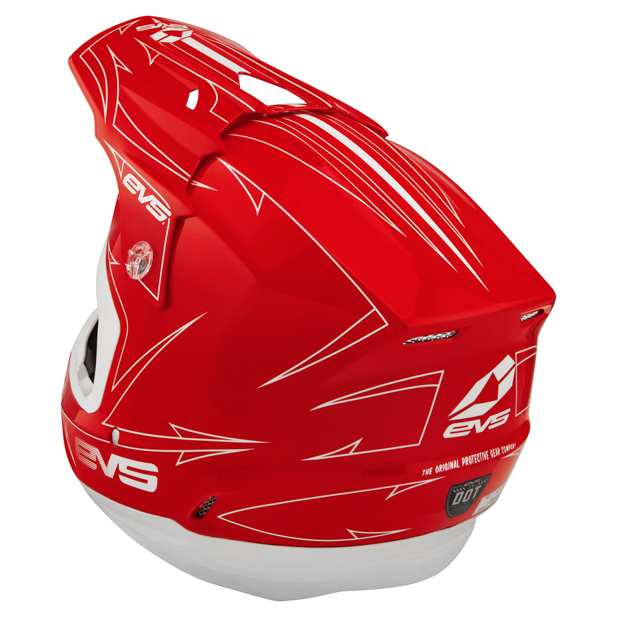 T5 Helmet - Pinner Red - EVS Sports - Motocross Protection Gear
