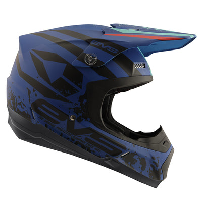 T5 Helmet - Grappler Matte Dark Blue - EVS Sports - Motocross Protection Gear