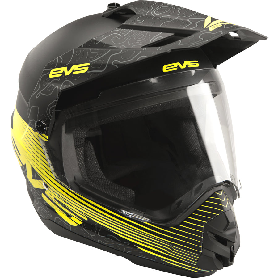 T5 Dual Sport Helmet - Venture Arise Black - EVS Sports - Motocross Protection Gear