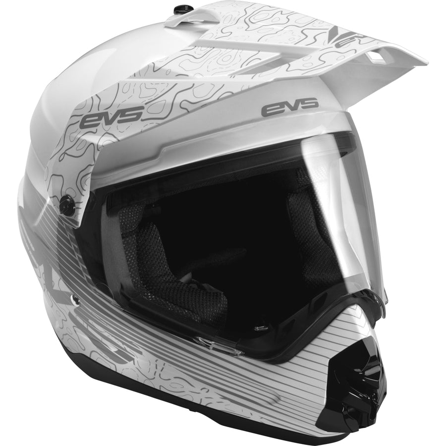 T5 Dual Sport Helmet - Venture Arise White - EVS Sports - Motocross Protection Gear