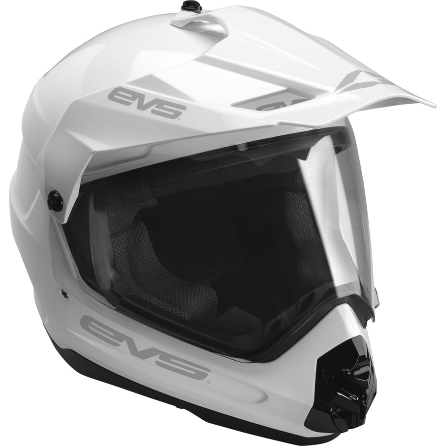 T5 Dual Sport Helmet - Venture Solid White - EVS Sports - Motocross Protection Gear