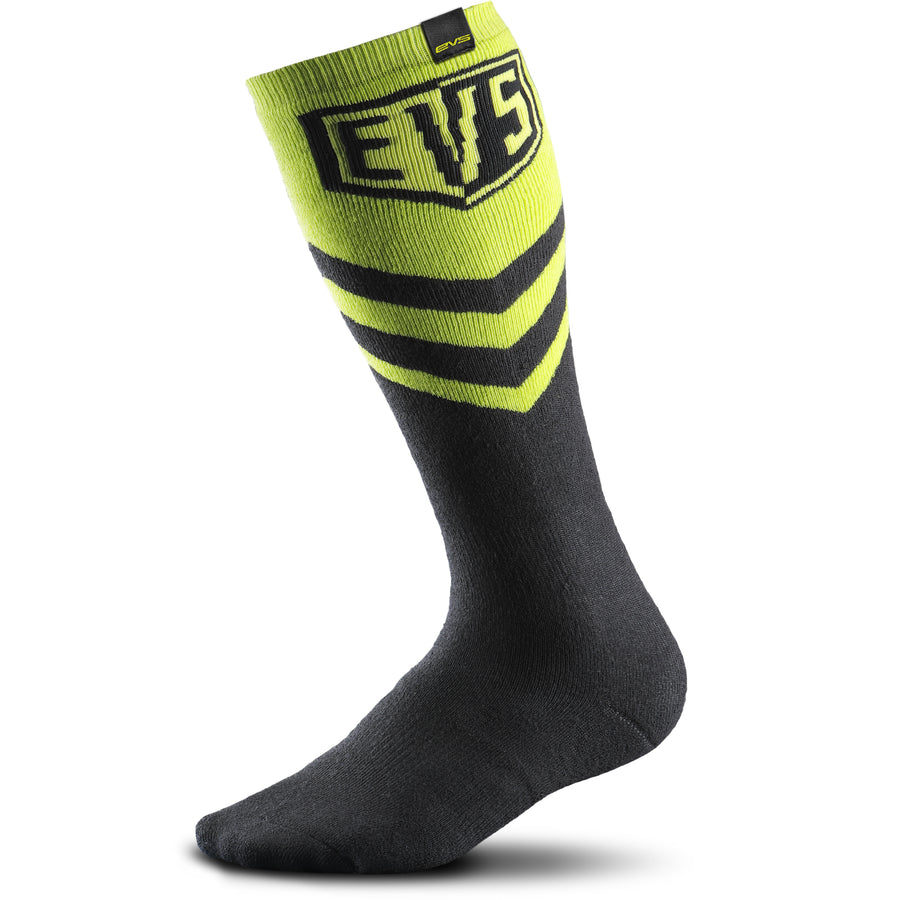 Moto Coolmax Socks - Hi-Viz Yellow - EVS Sports - Motocross Protection Gear