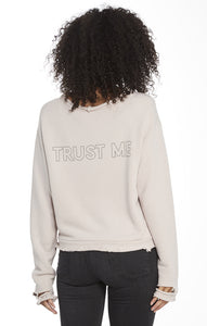 Blaise Lavender Ash Trust Me Distressed Pullover