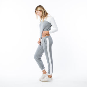 Dark Heather Grey Color Black Sweatpants