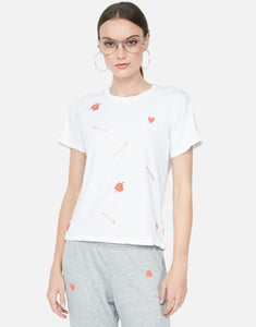 Croft Love Arrows with Mini Rose Embroidered Tee