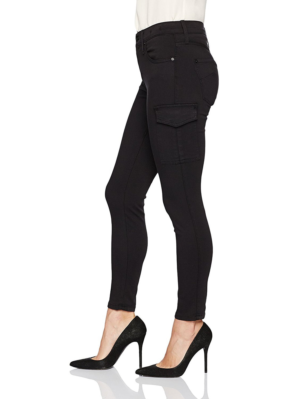 Twiggy Black Ankle Cargo Jeans