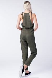 Halter Jumpsuit with Drawstring